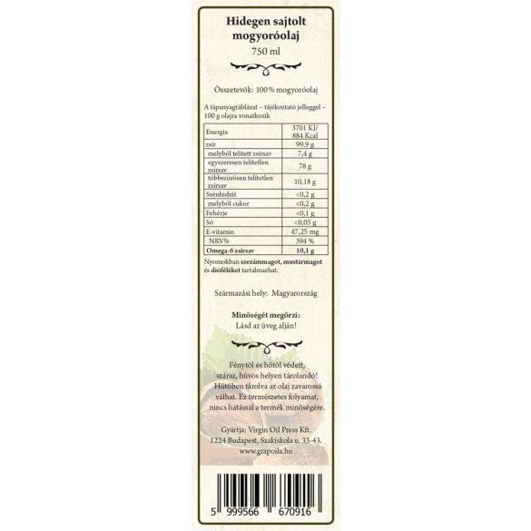 Törökmogyoró-olaj 750 ml