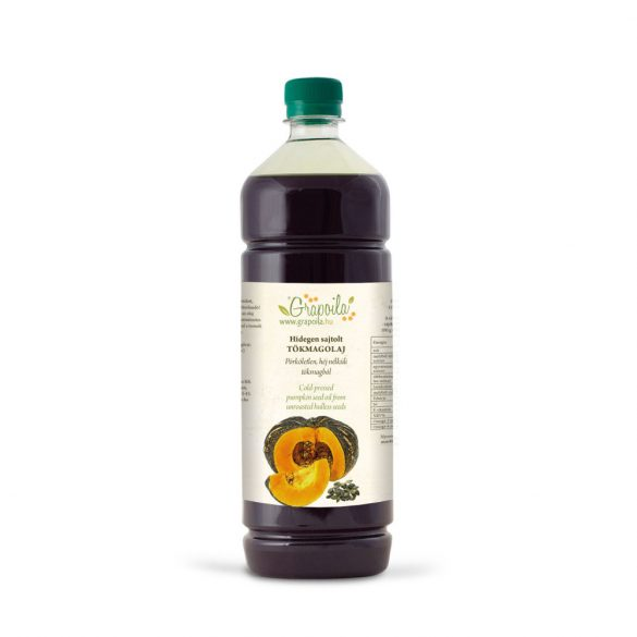 Pumpkin seed oil 1000 ml PET from unshelled pumpkin seeds
