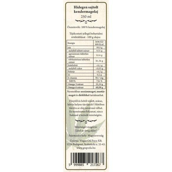 Kendermagolaj 250 ml