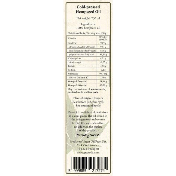 Hemp seed oil 750 ml