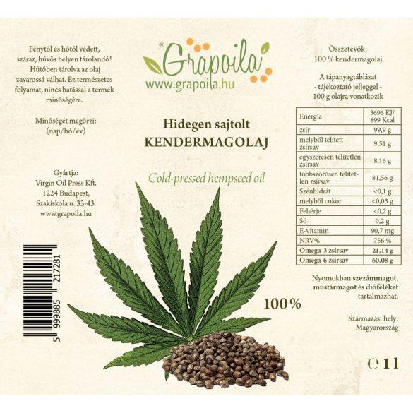 Hemp seed oil 1000 ml PET