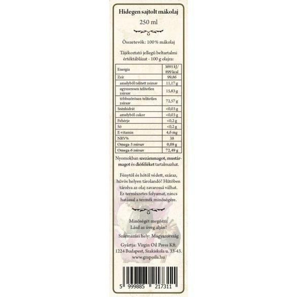 Poppy seed oil 250 ml