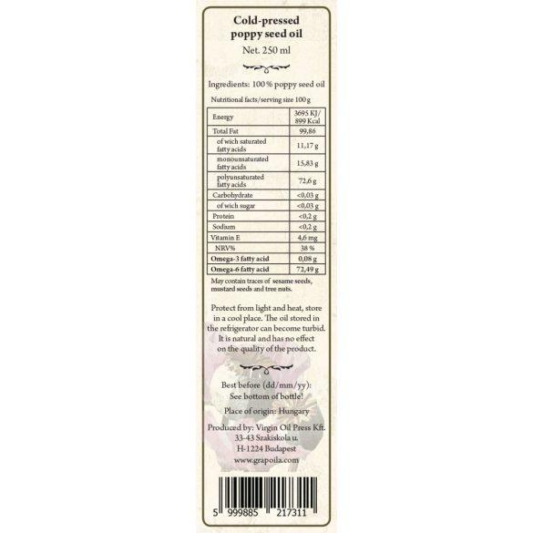Mákolaj 250 ml