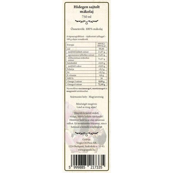 Mohnöl 750 ml
