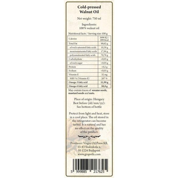 Dióolaj 750 ml