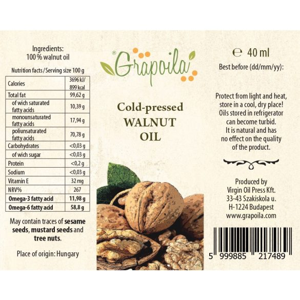 Walnut oil 40 ml