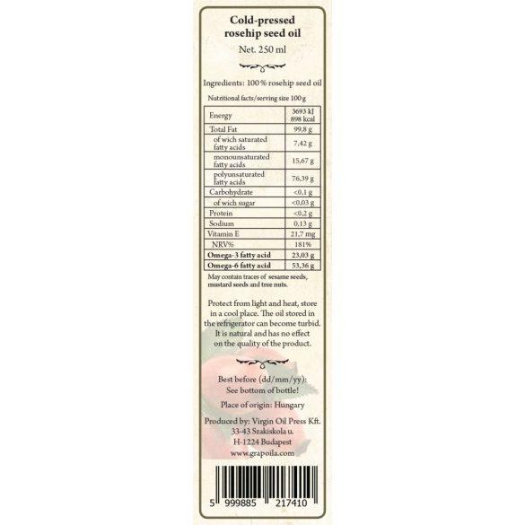 Csipkebogyómag-olaj 250 ml