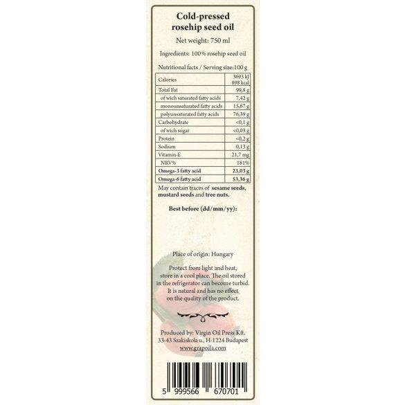 Csipkebogyómag-olaj 750 ml