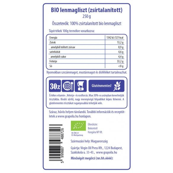 Lenmagliszt BIO 250 g