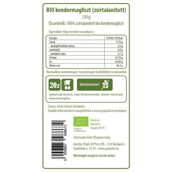 Hempseed flour BIO 250 g