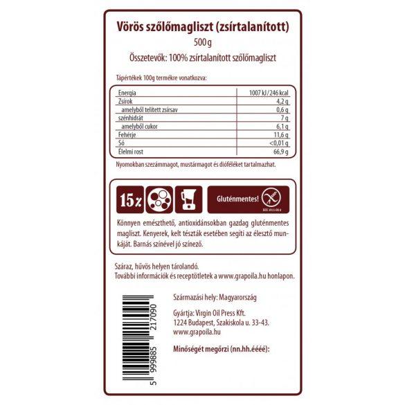 Vörös szőlőmagliszt 500 g
