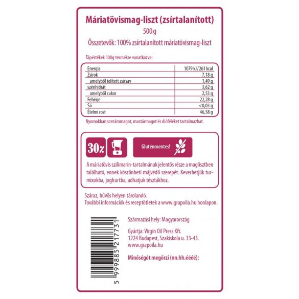 Milk thistle seed flour 500 g