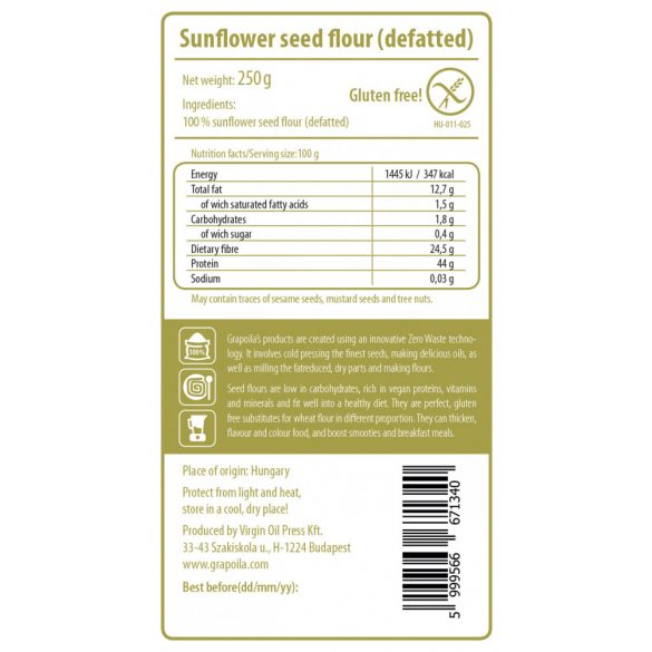 Sunflower Seed Flour 250 g