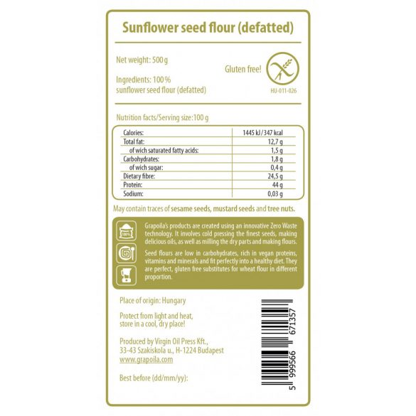 Sunflower Seed Flour 500 g