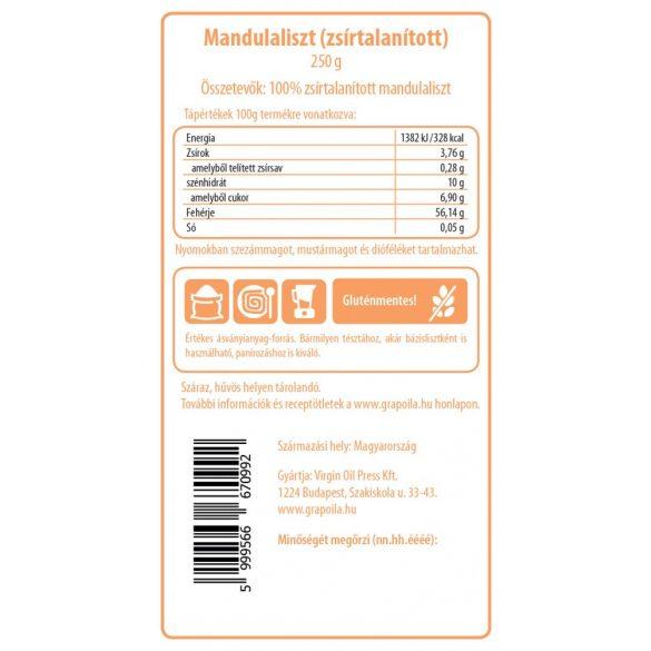 Mandulaliszt - zsírtalanított 250 g