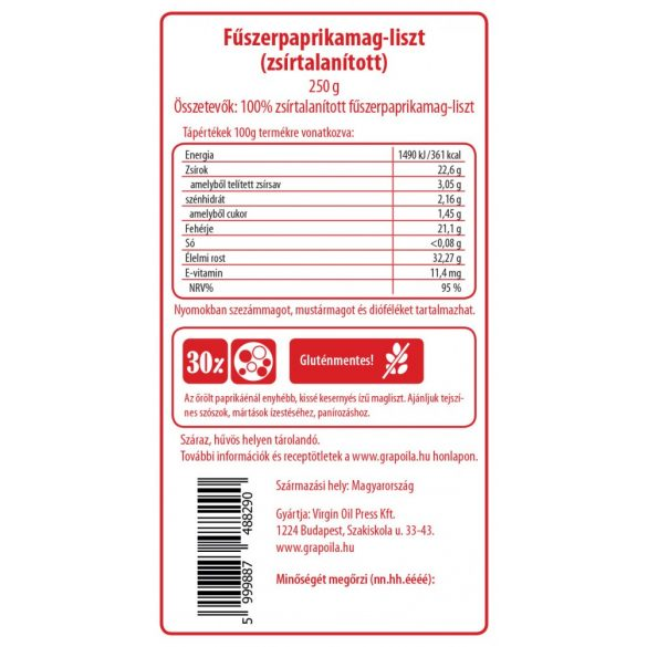 Paprika seed flour 250 g