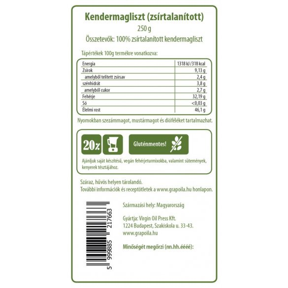 Hanfsamenmehl 250 g