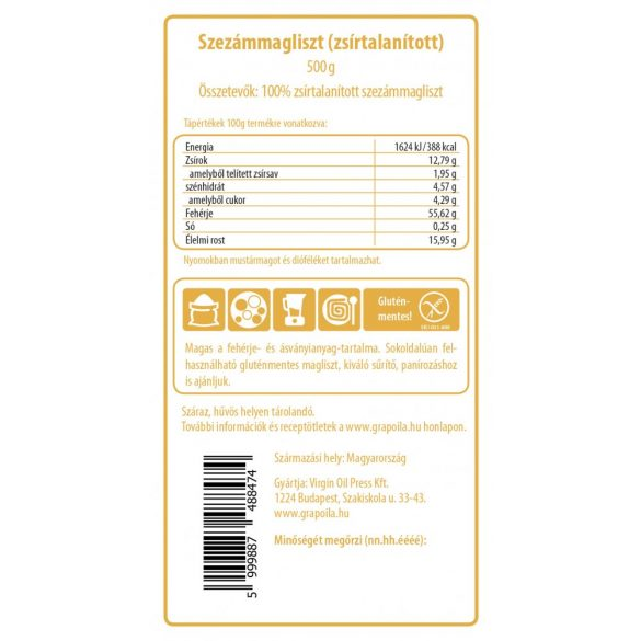 Sesam-Kernmehl 500 g