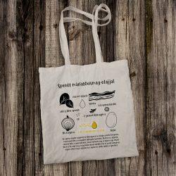 Vászontáska Spenótos recepttel