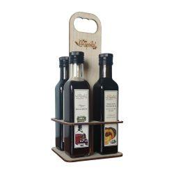 Asztali olajtartó állvány (min.4 db, 250 ml-es olaj vagy balzsamecet rendelése esetén AJÁNDÉK)
