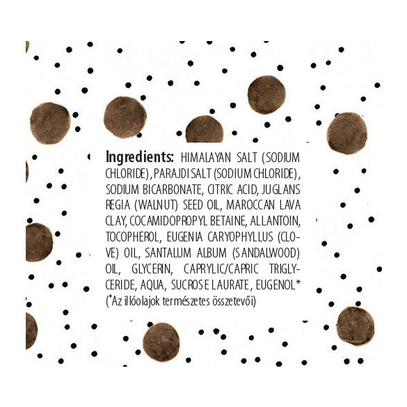 Bath salt with walnut oil 120 g