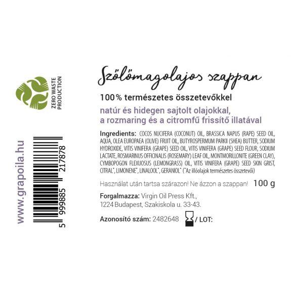 Szőlőmagolajos szappan 100 g
