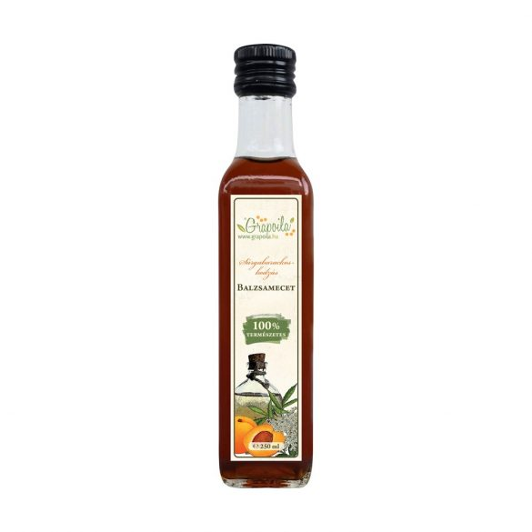 Balsamic vinegar with apricot and elderberry