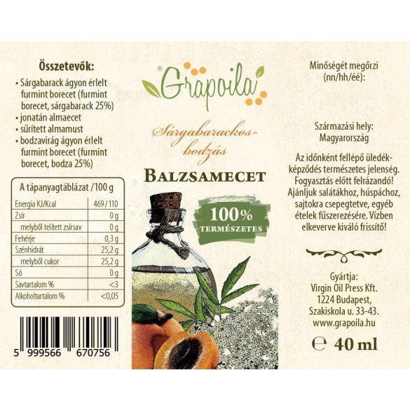 Sárgabarackos-bodzás balzsamecet 40 ml