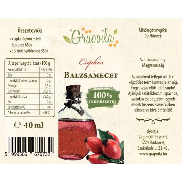 Balsamic vinegar with rosehip 40 ml