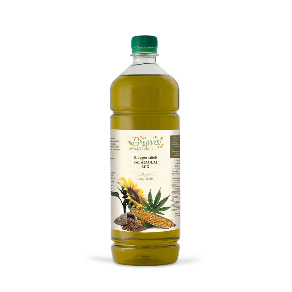 Salátaolaj 1000ml PET + ajándék olajszórófej